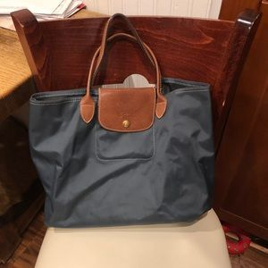 Longchamp Navy Tote Bag